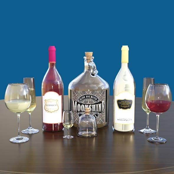 Liquor Bottles & Glasses