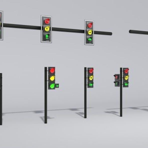 Polish Traffic Lights 3D models PL Low-poly