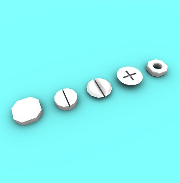 Nuts & Bolts - 3DOcean Item for Sale