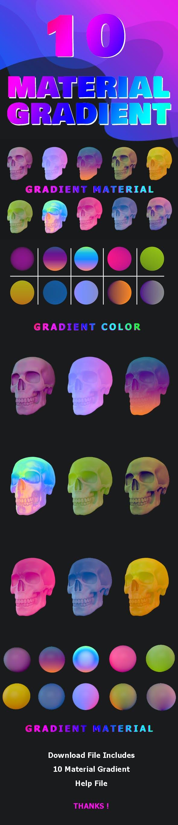 C4D - 10 Material Gradient - 3DOcean Item for Sale