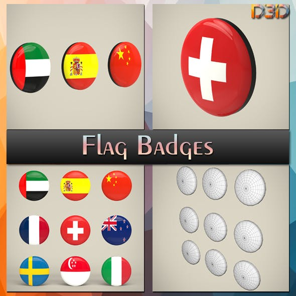 Flag Badges Collection