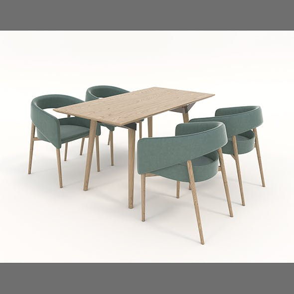 Contemporary Design Table and Chair Set 15