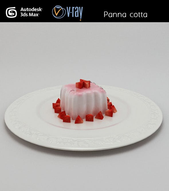 Panna cotta pudding - 3DOcean Item for Sale