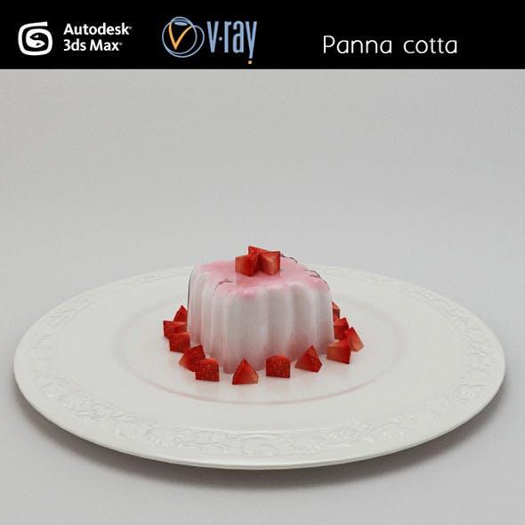 Panna cotta pudding