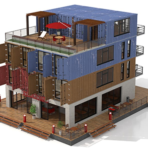 Container Residential Apartment Building