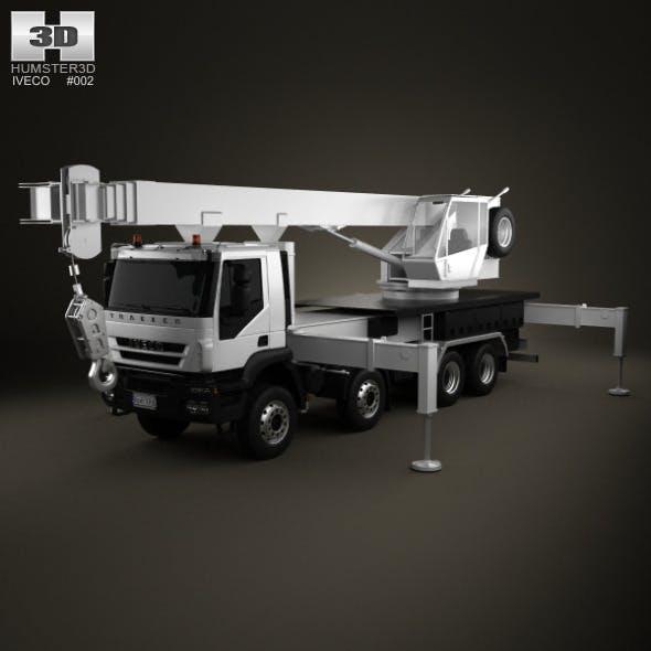 Iveco Trakker Crane Truck 4-axis 2012 - 3DOcean Item for Sale