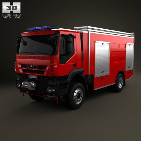 Iveco Trakker Fire Truck 2-axis 2012 - 3DOcean Item for Sale