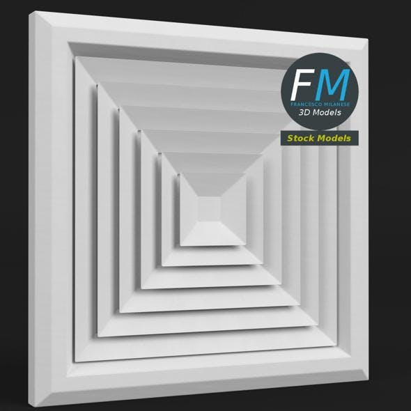 Ceiling air vent - 3DOcean Item for Sale