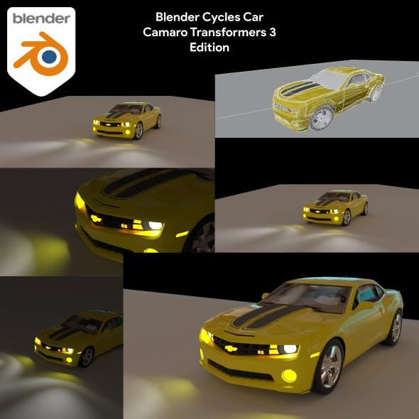Blender Cycles Car Camaro Transformers 3 Edition