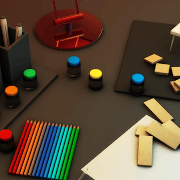 Desk With Random Stuffs