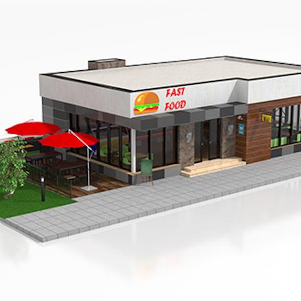 Drive-Thru Fast Food Restaurant