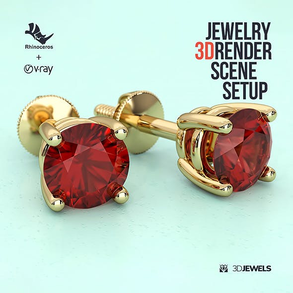 Jewelry 3D Rendering Scene Setups for Rhino with V-Ray 5