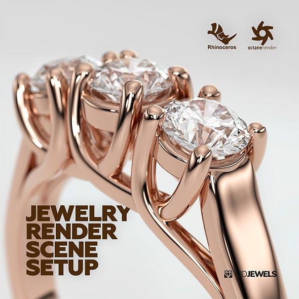 Rhinoceros Octane Render Jewelry Realistic Render Scene Setup