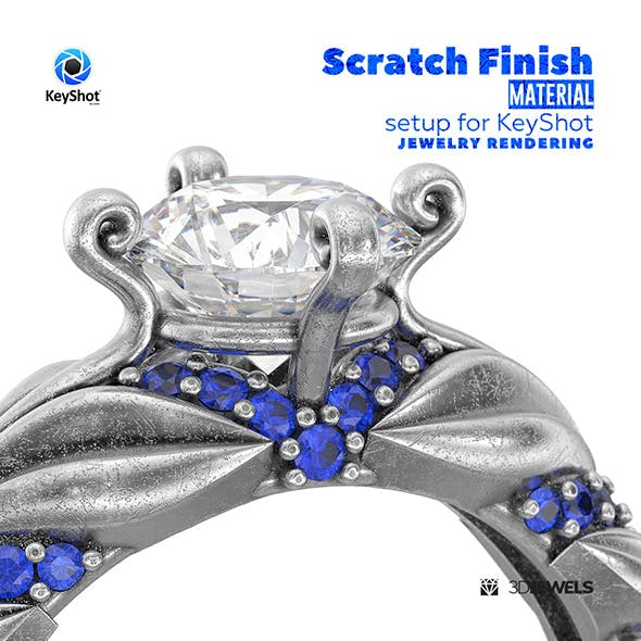 Scratch Finish Gold Material Setup for KeyShot Jewelry Rendering