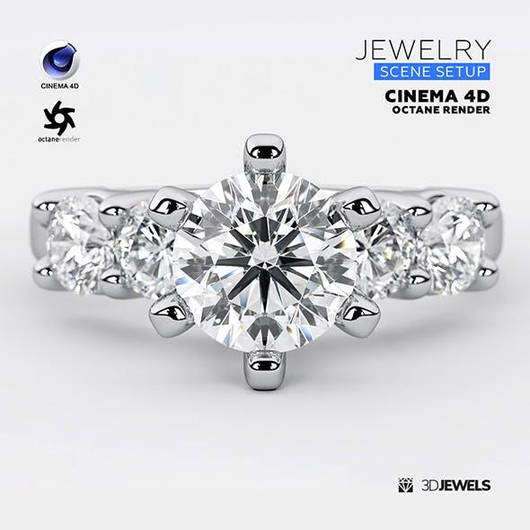 Cinema 4D with Octane Render Scene Setups For Jewelry 3D Rendering