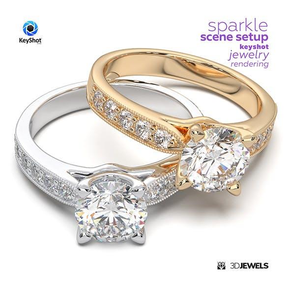 Sparkle Scene Setup for KeyShot Jewelry Rendering