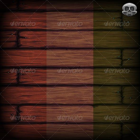 Hand Painted Wooden Floor Texture Tile - 3DOcean Item for Sale
