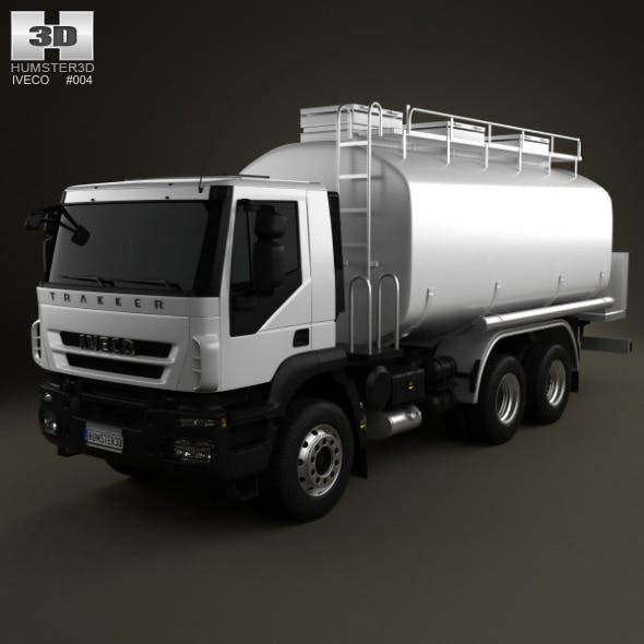 Iveco Trakker Fuel Tank Truck 3-axis 2012 - 3DOcean Item for Sale