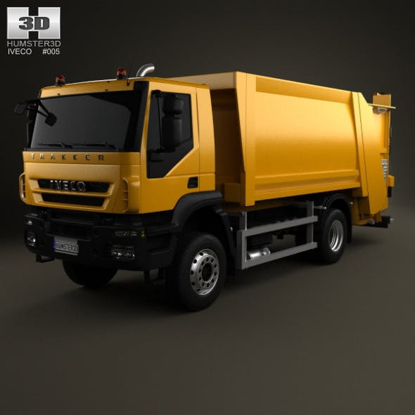 Iveco Trakker Garbage Truck 2-axis 2012 - 3DOcean Item for Sale