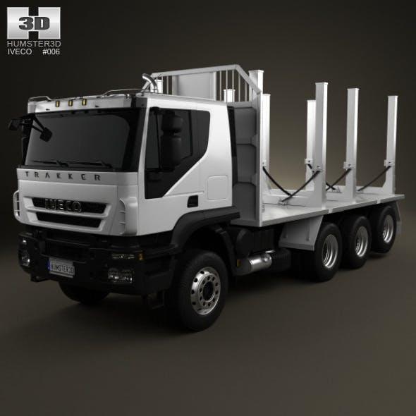 Iveco Trakker Log Truck 4-axis 2012 - 3DOcean Item for Sale