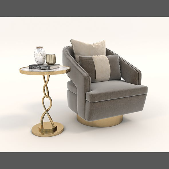 Contemporary Chair and Coffee Table