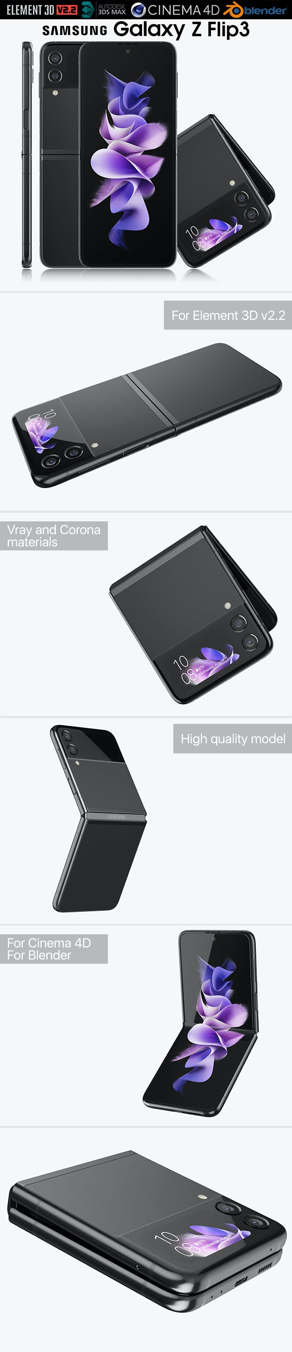 Samsung Galaxy Z Flip 3 - 3DOcean Item for Sale