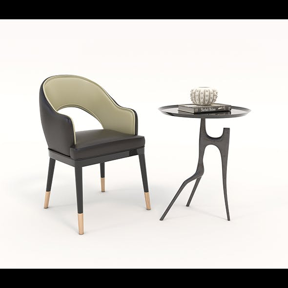 Contemporary Chair and Coffee Table 2