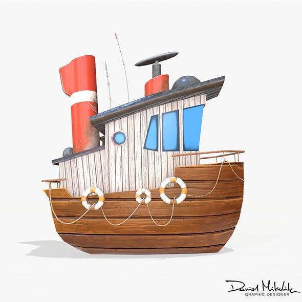 Cartoon Mini Boat - 3DOcean Item for Sale