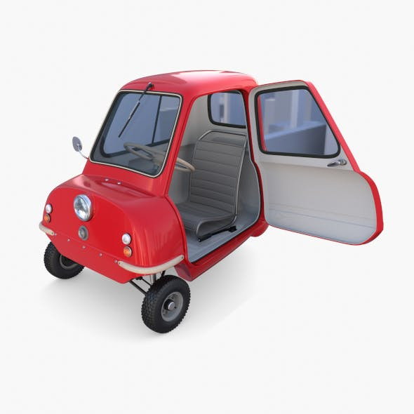 Peel P50 Red with interior and chassis