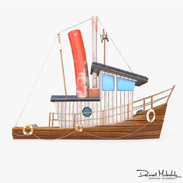 Cartoon Mini Boat 2 - 3DOcean Item for Sale