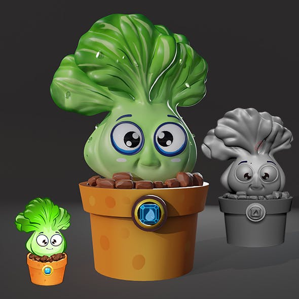 Low Poly Cabbage with texture