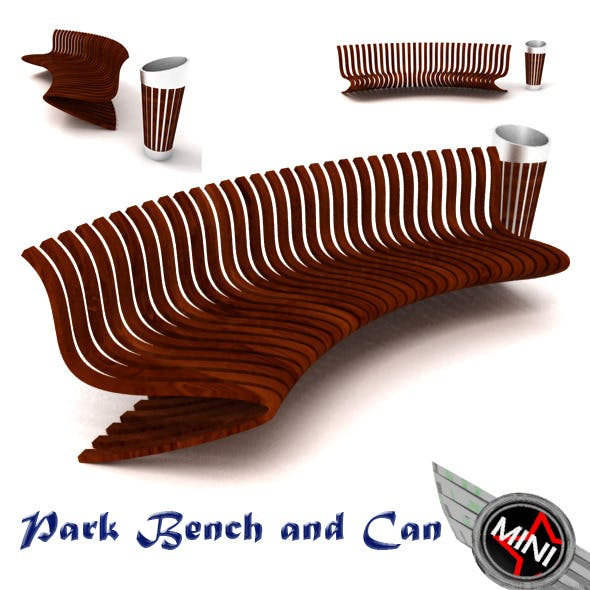 Park Bench and Can Model