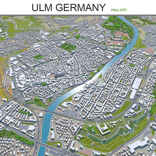Ulm city Germany 3d model 40km