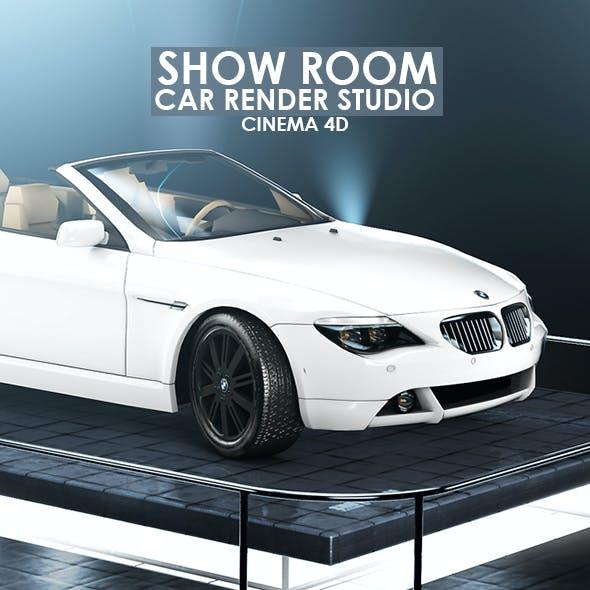 Showroom Render Scene for Cinema 4D