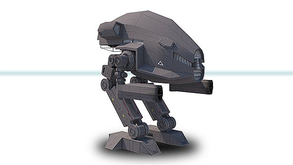 Mech 1 Low Poly Max 2011 - 3DOcean Item for Sale
