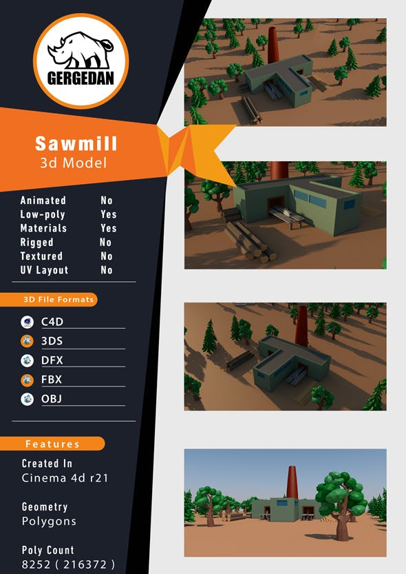 Sawmill - 3DOcean Item for Sale