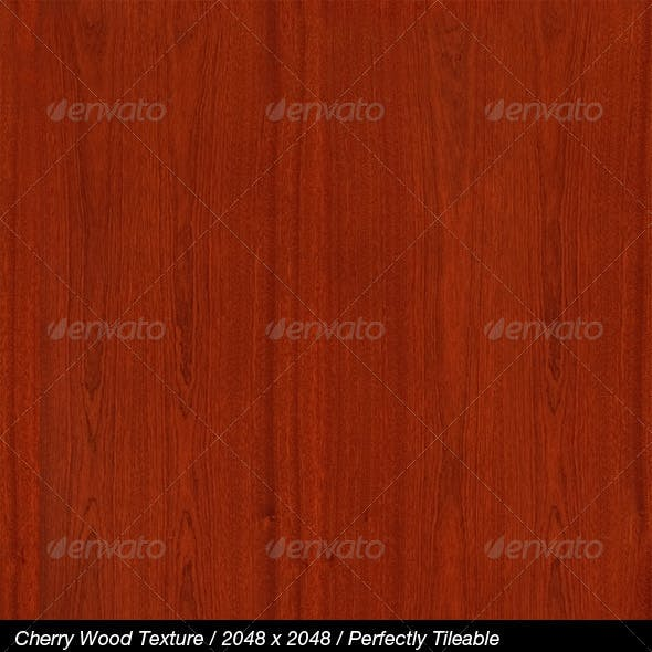 HQ Cherry Wood Texture with Bump & Specular Maps