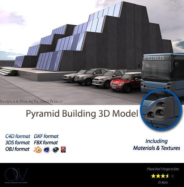 Pyramid Building 3D Model - 3DOcean Item for Sale