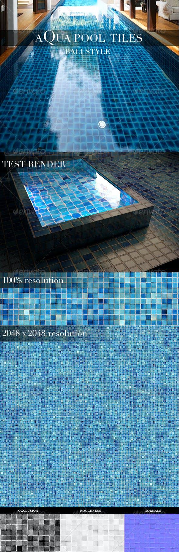 Aqua Pool Tiles - 3DOcean Item for Sale