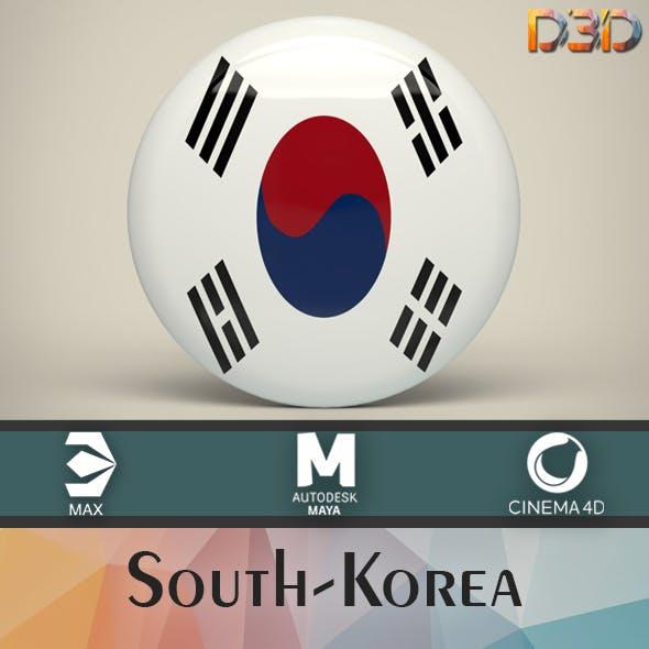 South-Korea Badge