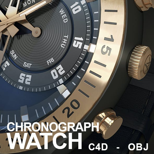 Detailed Chronograph Watch