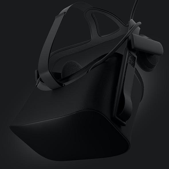 HMD VR Black Headset 3D Model