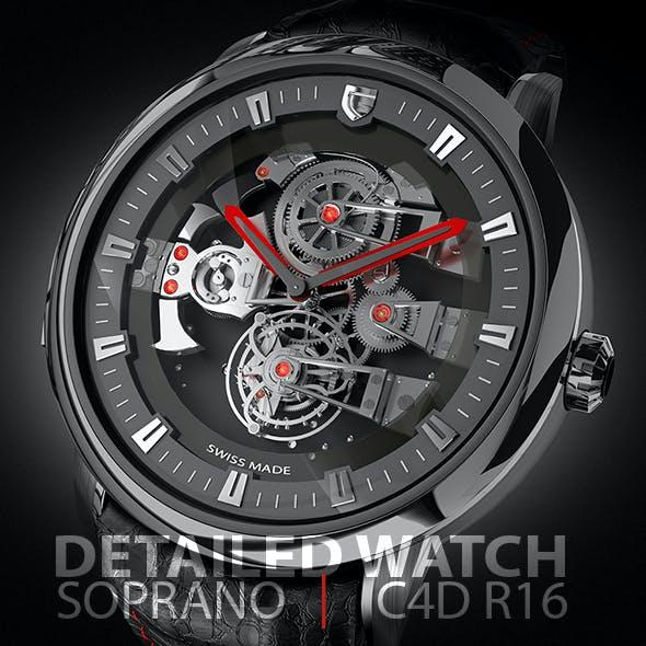 Detailed Tourbillon Soprano Watch