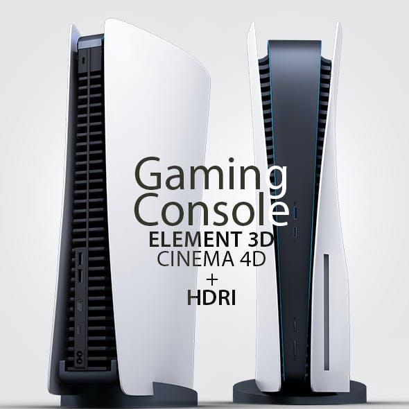 Gaming Console 3D Model Element 3D