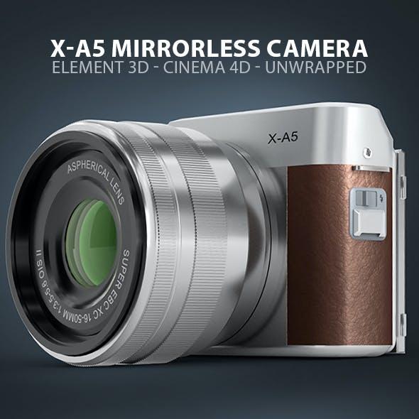 Fuji X-A5 Mirrorless Digital Camera Element 3D & Cinema 4D Model