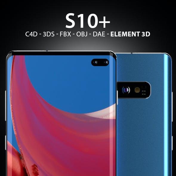 Galaxy S10+ 3D Model for Element 3D