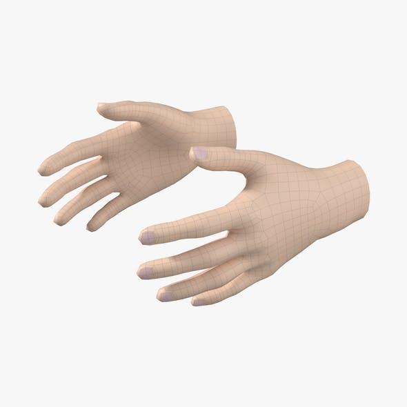 Female Hand Base Mesh 03 - 3DOcean Item for Sale