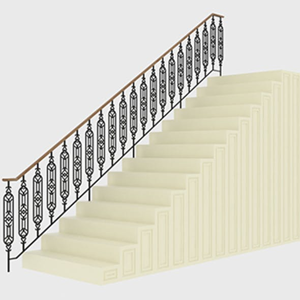Highly detailed railing 01