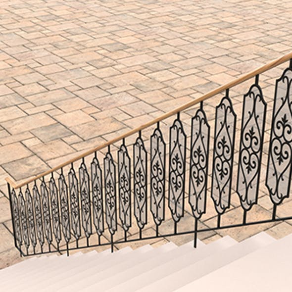 Highly detailed railing 02