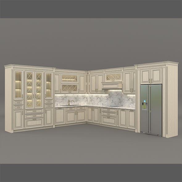 European Style Kitchen 6 - 3DOcean Item for Sale